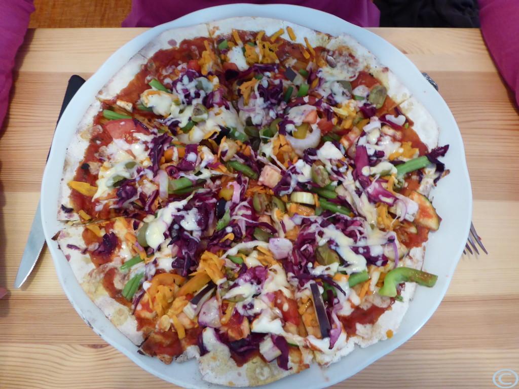 Und SO eine vegetarische Pizza?